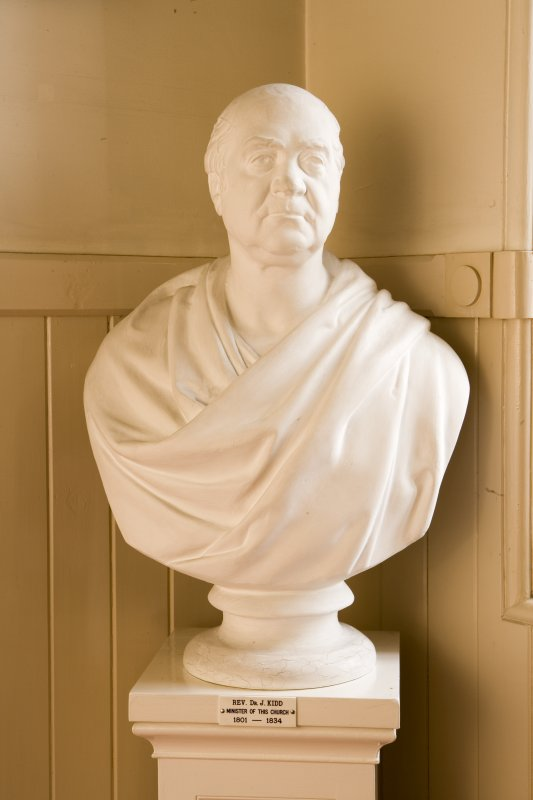 Interior. Detail of bust of Dr Kidd