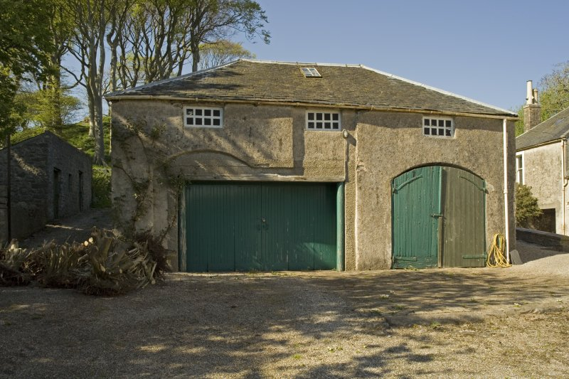 Stable block to W of house, view from S