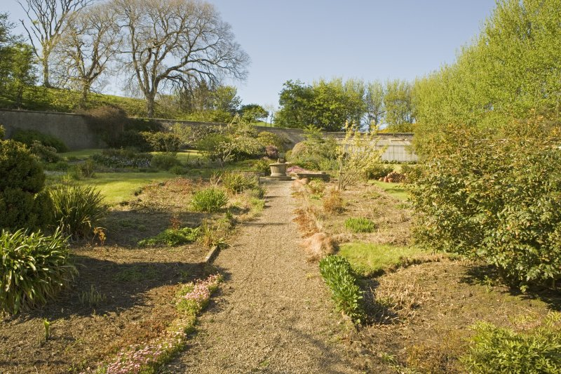 Walled garden to rear, view from S