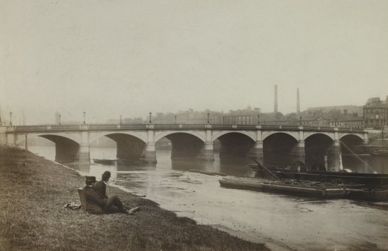 Page 34v/5 View of Broomieknowe Bridge, Glasgow. Titled'Broomielaw Bridge, by Telford' PHOTOGRAPH ALBUM No.146: THE THOMAS ANNAN ALBUM