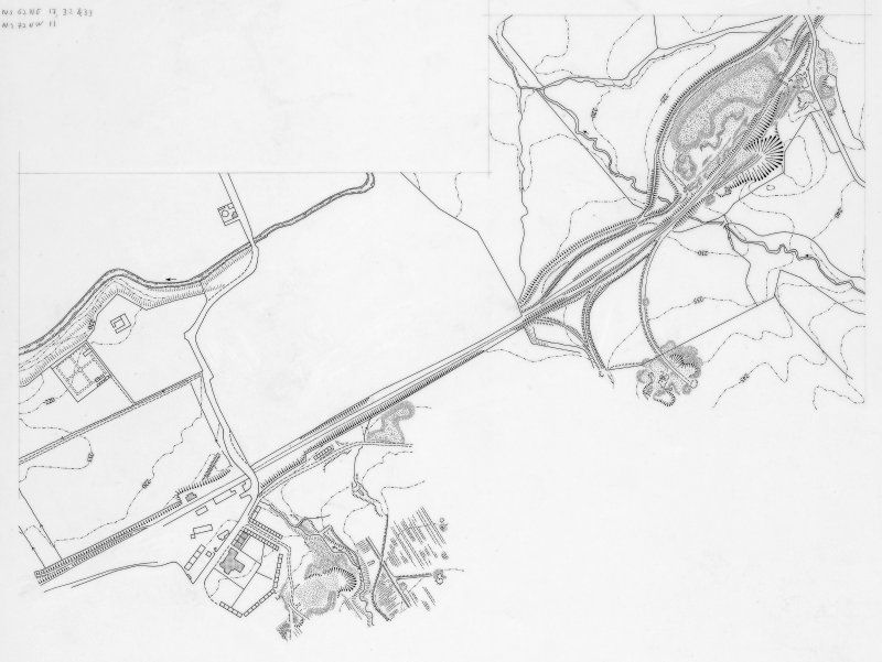 Digital image of drawing showing plan of area around ironworks.