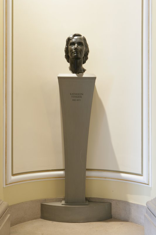 Interior. 1st floor, grand circle lobby, bust of Kathleen Ferrier