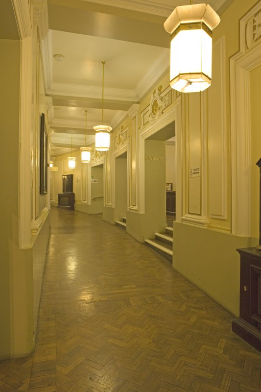 Interior. Ground floor, corridor, view from E