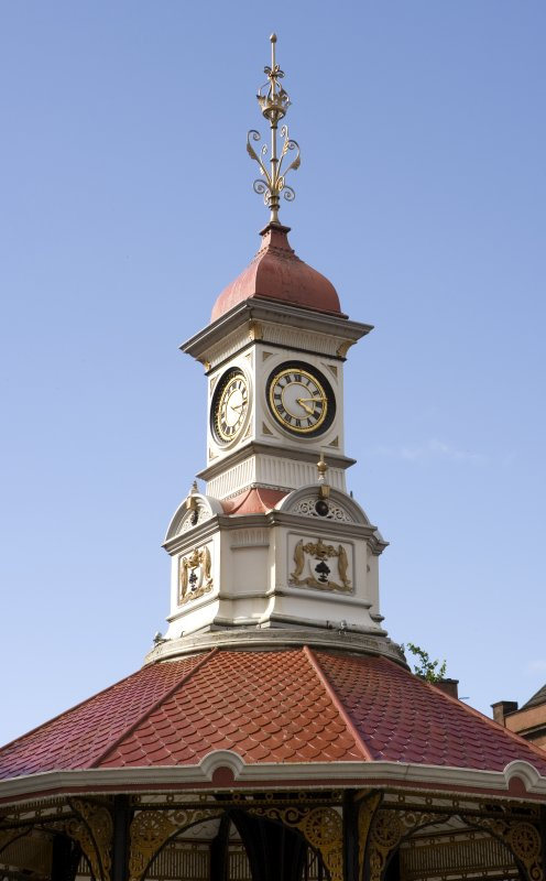Detail of clock tower.