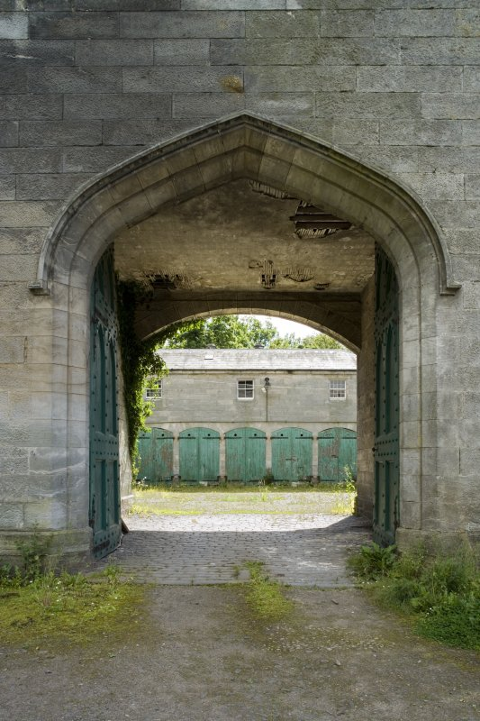 Entrance gate. View from north