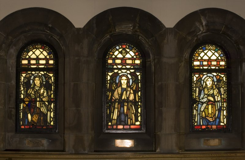 Interior. Lobby   Stained glass windows depicting Angels designed by R Anning Bell executed by J & W Guthrie