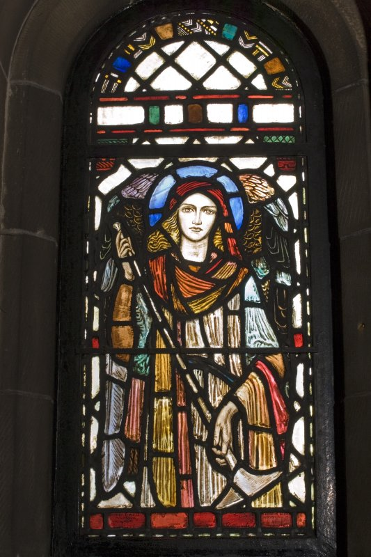 Interior. Lobby   Stained glass windows depicting Angel designed by R Anning Bell executed by J & W Guthrie