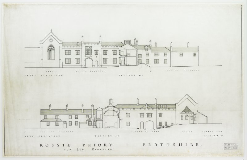 Elevations and sections.