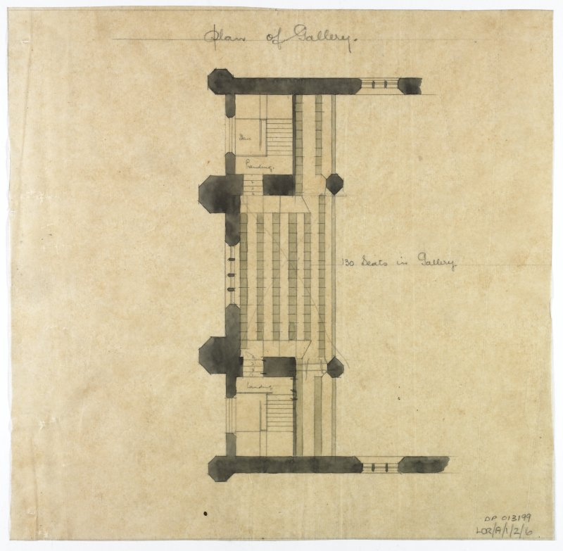 Plan showing gallery.