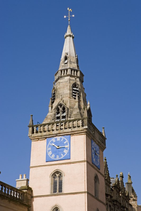 Detail of clock and spire