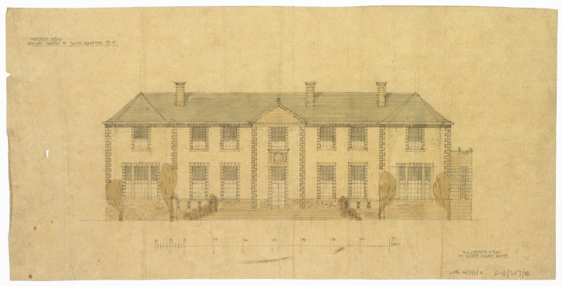 Revised sketch of South Elevation No 4, Hill of Tarvit.