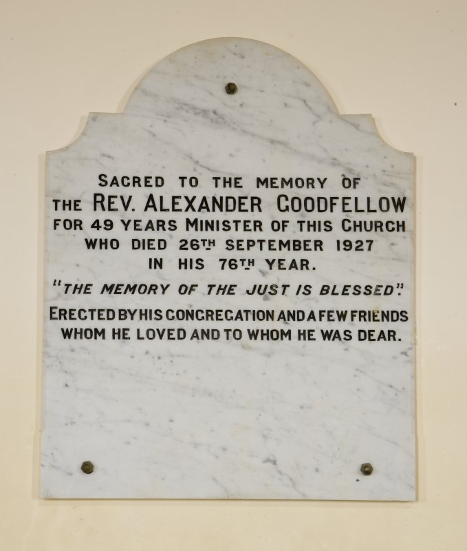 Interior. Detail of REv A Goodfellow memorial
