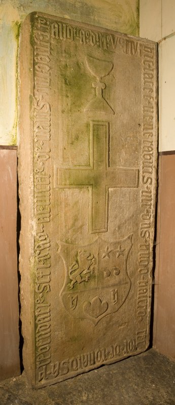 Interior. Detail of memorial slab