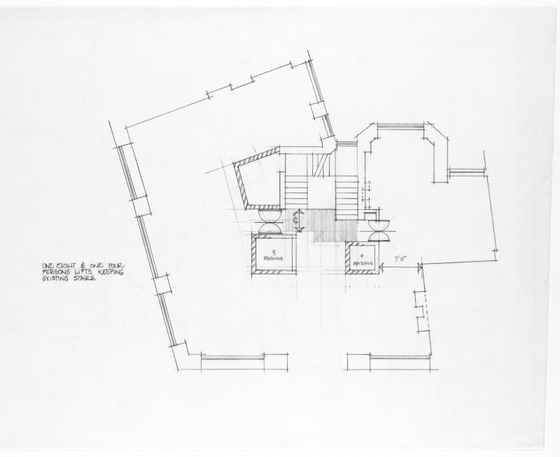 2 Queen Anne's Gate Building.  Floor plan showing alterations to existing scheme.