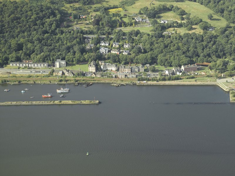 Oblique aerial view of the harbour, taken from the SSW.