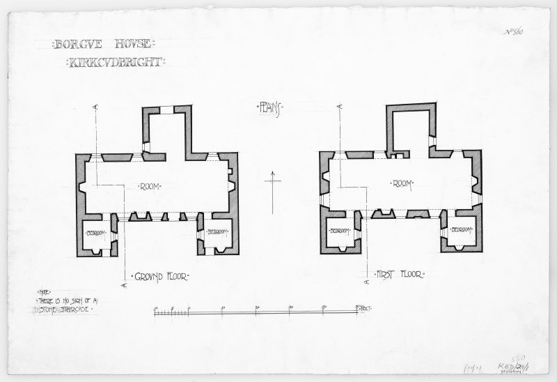Plan of ground and first floor.