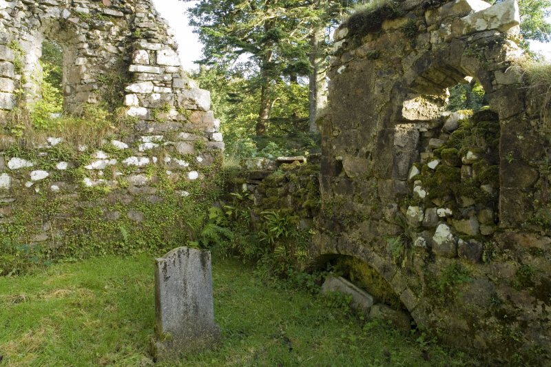 Chapel. Interior. S Side Tomb Arch Recess. View from NW