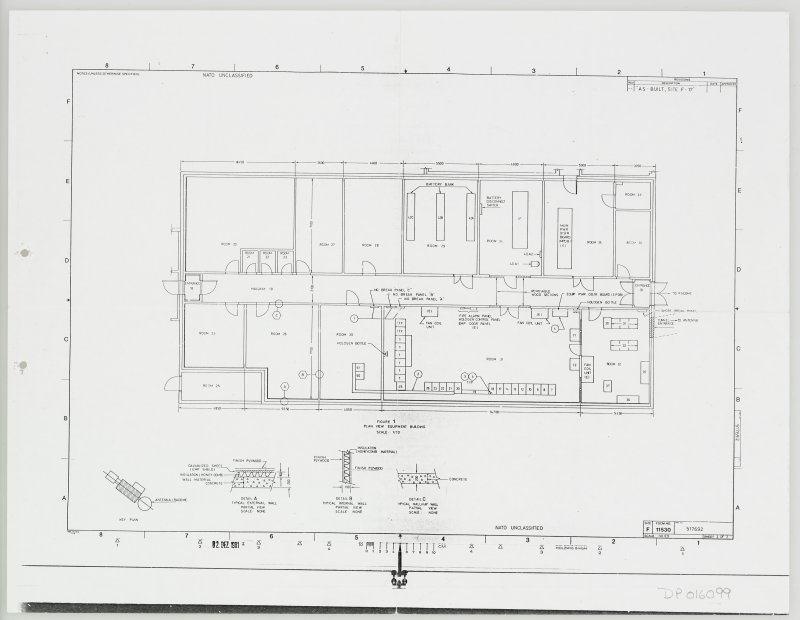General layout plan with details of equipment building.