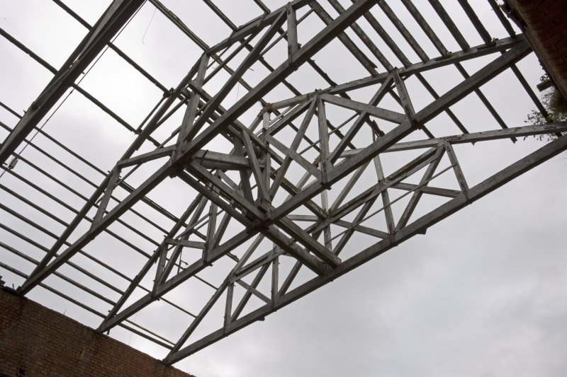 Interior. View of roof structure