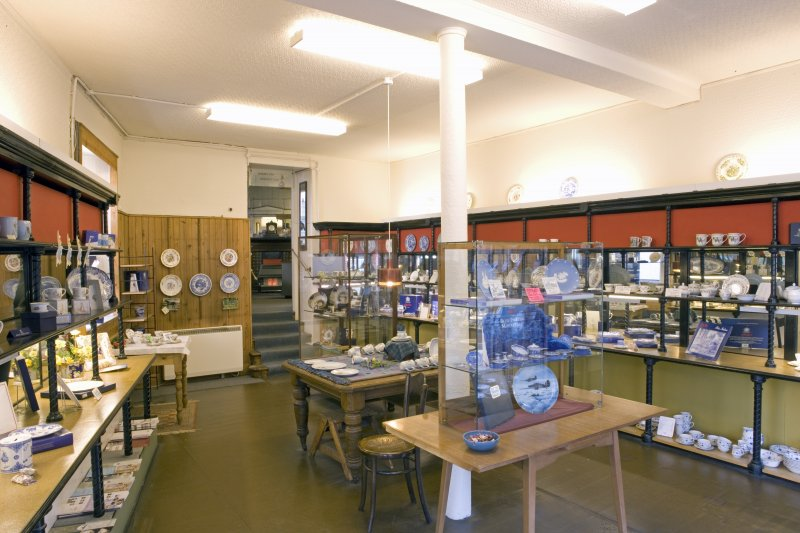 Interior. Ground floor. Front shop (N) showing modern shop fittings and display cabinets.
