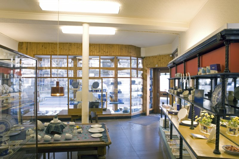 Interior. Ground floor. Front shop (N) to Bristo Street frontage, showing modern shop fittings and display cabinets.