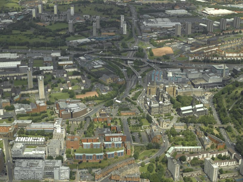 General oblique aerial view of the city centred on Townhead, taken from the S.