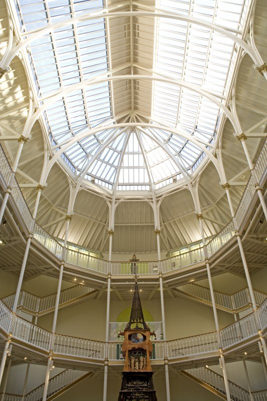 Interior. Ground floor, Atrium, roof.