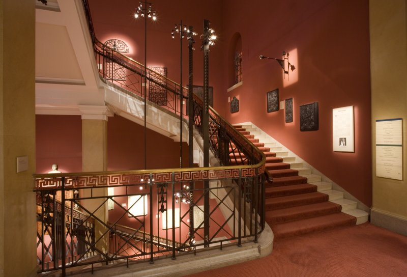 Interior. Main stair.