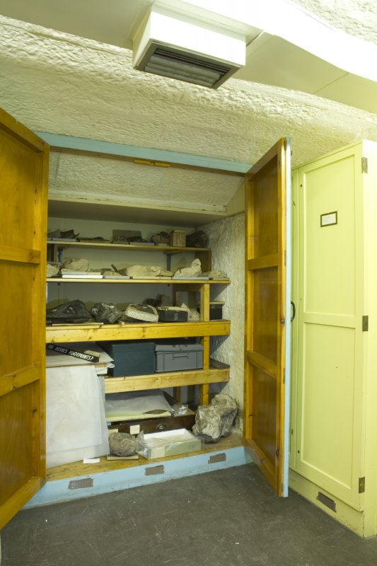 Interior. Basement, fossil store cupboard.