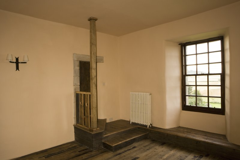 Interior. 2nd floor, bedroom, view from NW