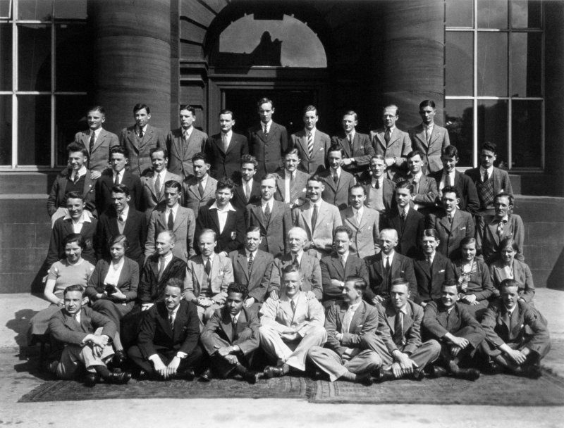 Edinburgh College of Art staff portrait.  Basil Spence (second row, fourth from left).