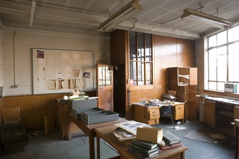 Interior.  Abandoned photographic department.
