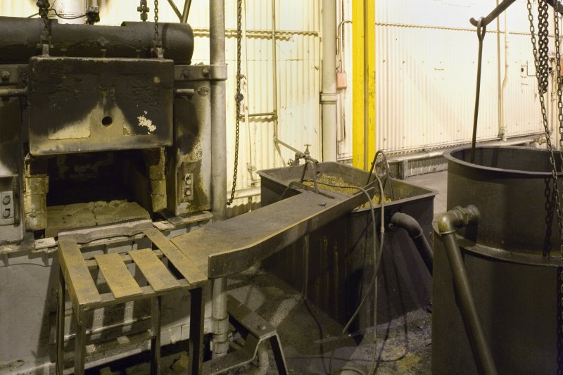 Interior. View of NS58100 60922, former furnace and hearth area.