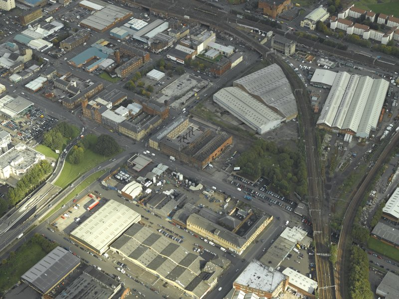 General oblique aerial view centred on the works, taken from the W.