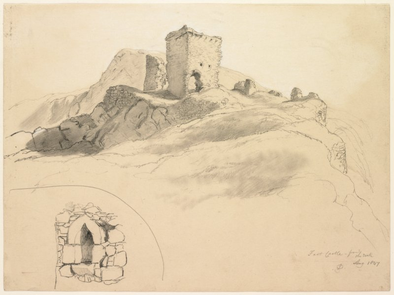 Drawing of Fast Castle.