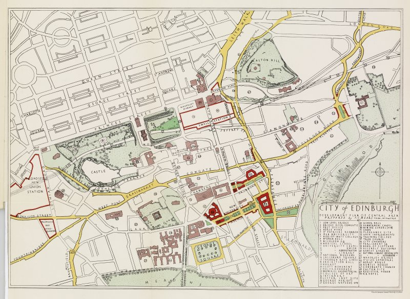 Development plan of central area, 'by F.C. Mears, F.R.I.B.A.'