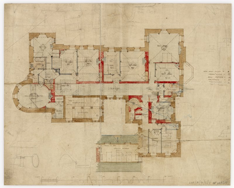 House for Sir Andrew Noble. Floor plan.