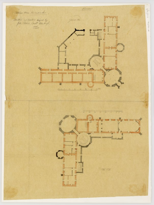 Ground floor and first floor plans showing alterations and additions.