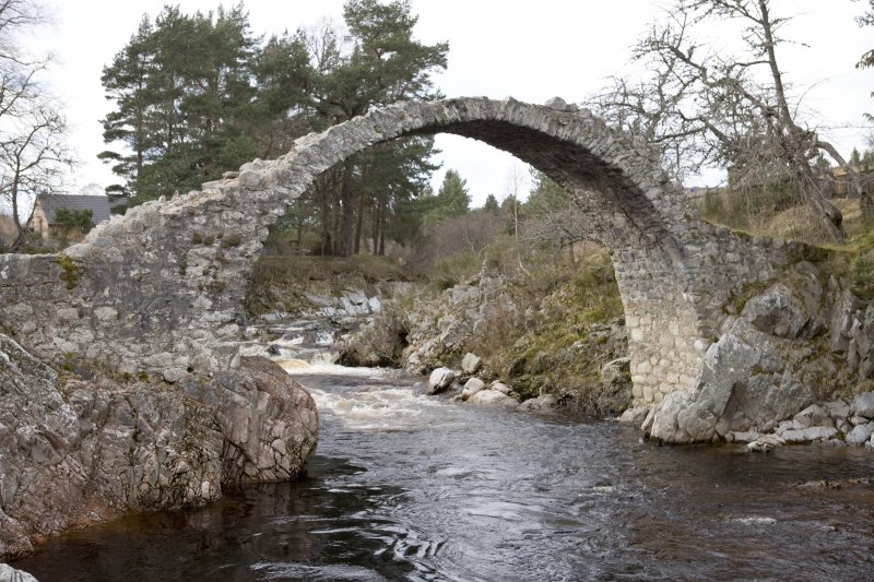 View of Carrbridge Old Road Bridge from East South East