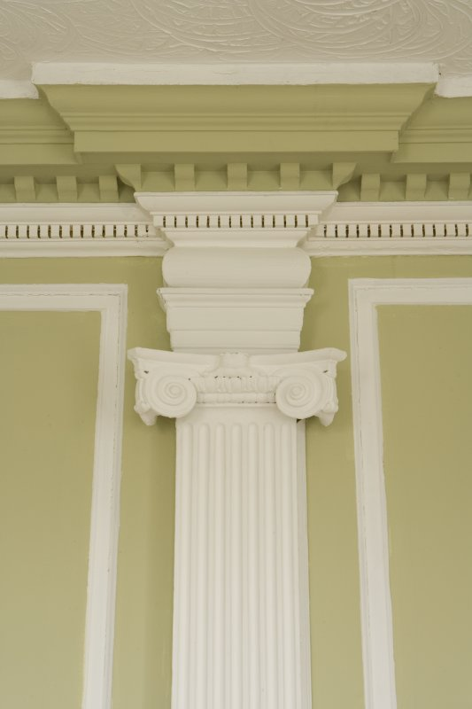 Interior. Ground floor, SW room (parlour), detail of pilaster capital