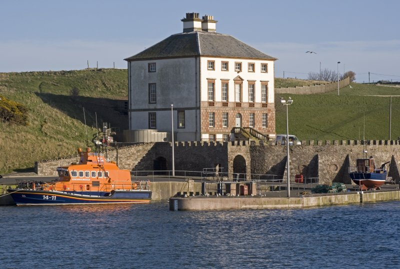 View from NW with lifeboat
