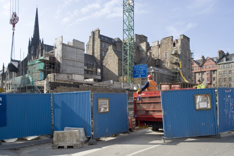 Gap site after demolition of Lothian County Buildings