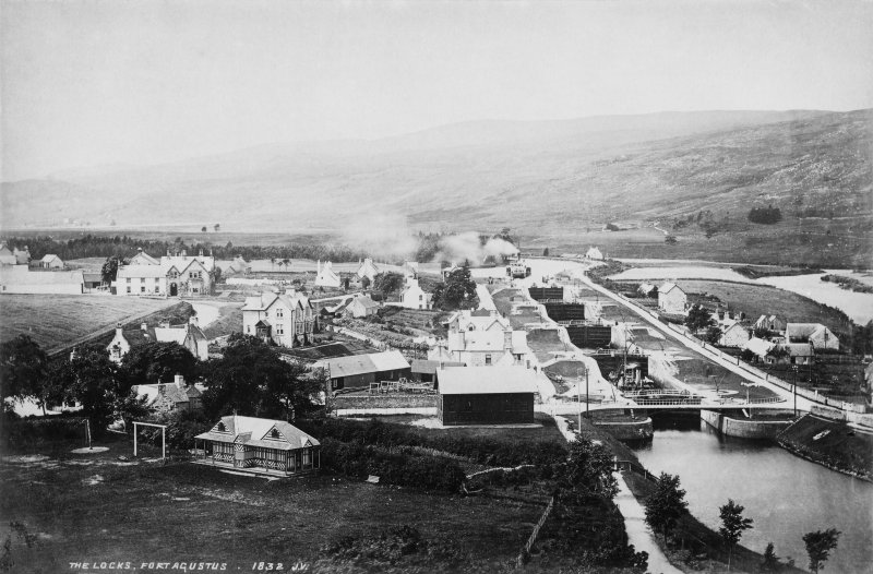 p  11   'The Locks, Fort Augustus.  1832 JV' Photograph Album No 112:  The Hotels Album   1890s