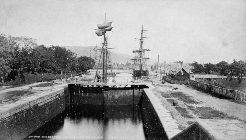 "Page 18  No. 1  ""On the Caledonian canal, at Muirtown. 1075 J.V."" Photograph Album No.140:  C R & Co American Album"