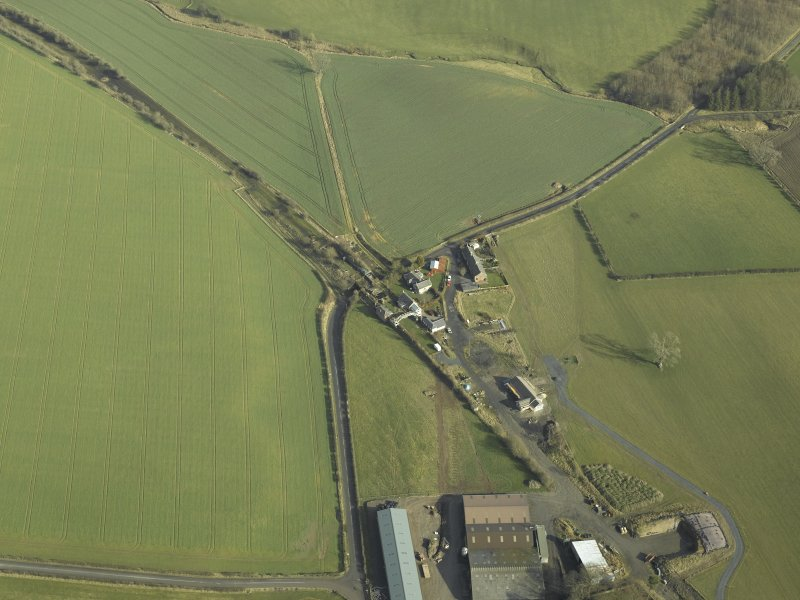 Oblique aerial view centred on Hassendean Station, taken from the SW.