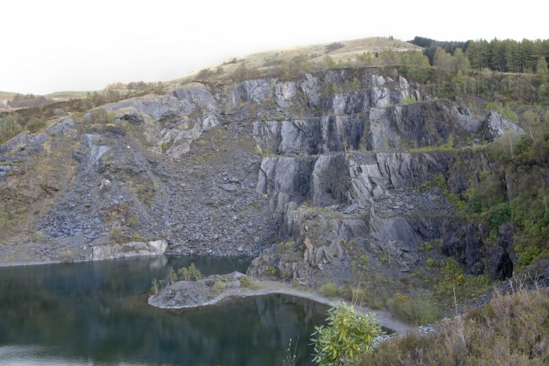General view from W of SE part of main quarry.