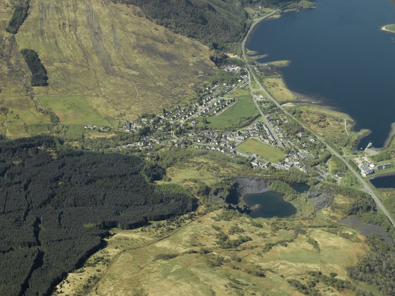 General oblique aerial view centred on the village, taken from the E.