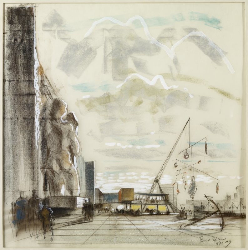 Preliminary sketch for Sea and Ships Pavilion, South Bank, London.