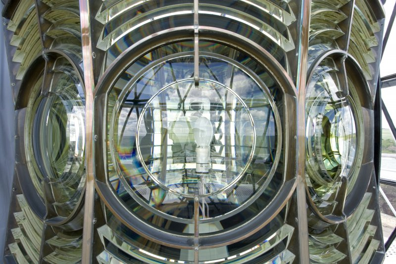 View of dioptric lens equipment, Todhead Lighthouse.