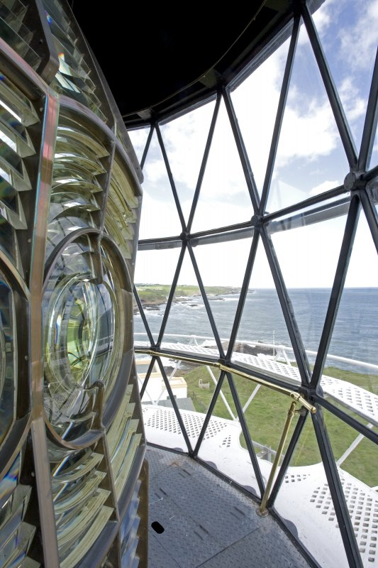 View from inside lantern, Todhead Lighthouse.